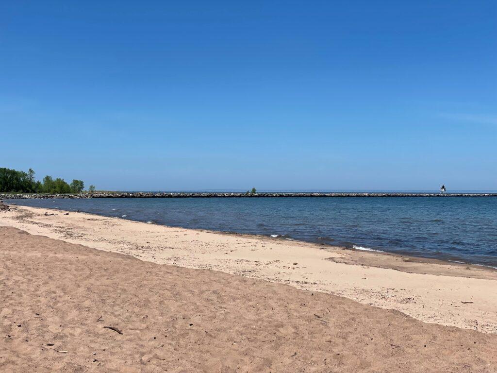 Beach facing pier